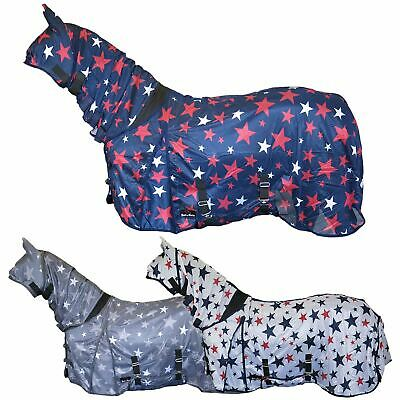 £32.99 • Buy Star Print Bug Protection Combo Fixed Neck Breathable Summer Sheet Mesh Fly Rug