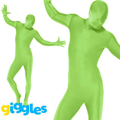 Mens Second Skin Green Bodysuit Full Body Lycra Fancy Dress Party Costume Outfit • 13.45£