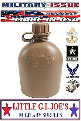 $ CDN9.67 • Buy 1) USMC NEW U.S. Military Issue Plastic 1Qt Canteen 3Pc Coyote Brown US MADE 936
