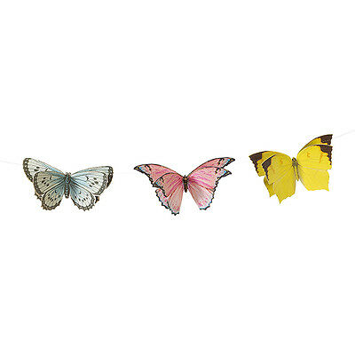Vintage Style Pretty Butterfly Bunting Garland 3m Butterfly Banner Decoration • 7.99£
