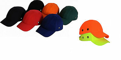 Safety Baseball Cap Bump Hard Hat Lightweight Head Protection Workwear New Stock • 9.99£