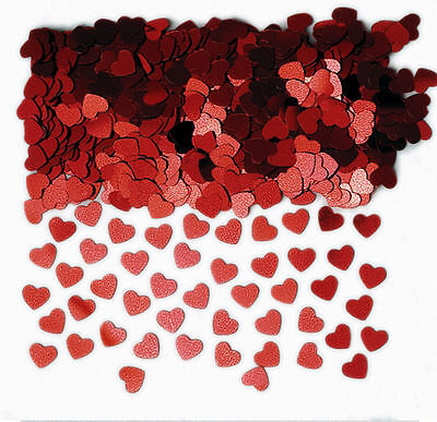 £2.25 • Buy Red Hearts Table Confetti Sprinkles Ruby Wedding, Valentines Table Decorations