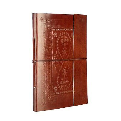 Fair Trade Handmade Extra Large Embossed Leather Photo Album 2nd Quality • 19.95£