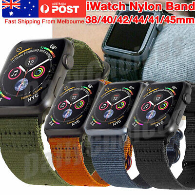 AU12.45 • Buy For New IWatch Apple Watch Series 5 4 3 44mm Nylon Woven Band Strap Replacement