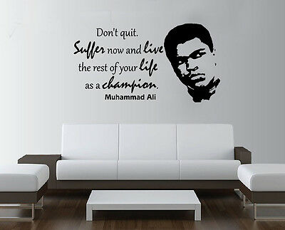 Boxing Muhammad Ali Quote Gym Studio Wall Art Bedroom Sticker  • 16.65£