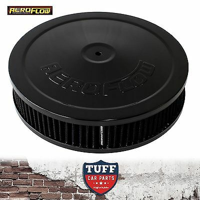 "AU113.88 • Buy Aeroflow Black Air Cleaner Assembly 9"" X 2"" With Washable Filter Element New"