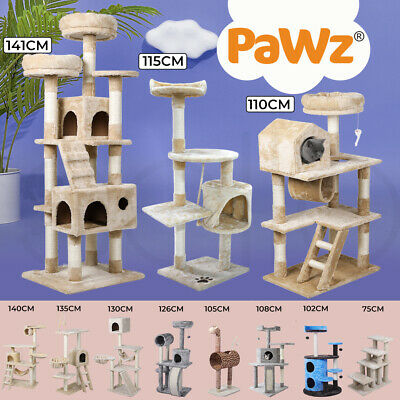 AU49.99 • Buy PaWz Cat Tree Scratching Post Scratcher Tower Pole House Furniture Play 35-140cm