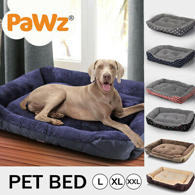 AU36.99 • Buy PaWz Pet Bed Mattress Dog Cat Pad Mat Cushion Soft Winter Warm Large Washable