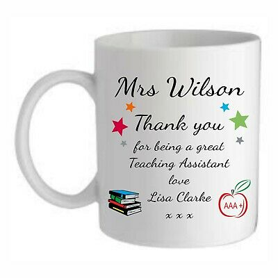 £8.95 • Buy Personalised Teacher Gift Mug Cup End Of Term School Thank You Christmas Present
