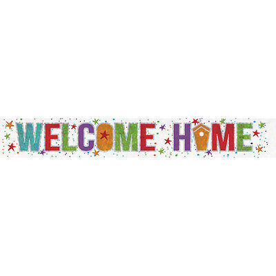 £2.25 • Buy Welcome Home Banner Party Decoration Bunting Shiny Holographic 2.7 Metres