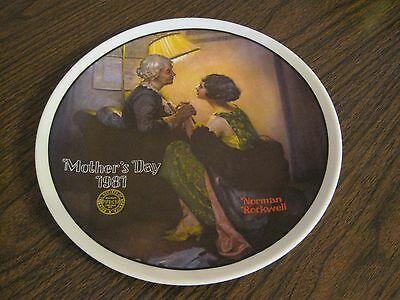 $ CDN12.50 • Buy Vintage Edwin M. Knowles Norman Rockwell 1981 Mother's Day Plate