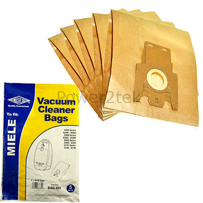 5 X FJM Dust Bags For Miele S4211 S4221 S4260 Vacuum Cleaner • 5.87£