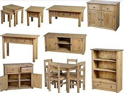 Panama Mexican Pine Furniture - Dining Set Nest Coffee Tables Bookcase Sideboard • 45.95£