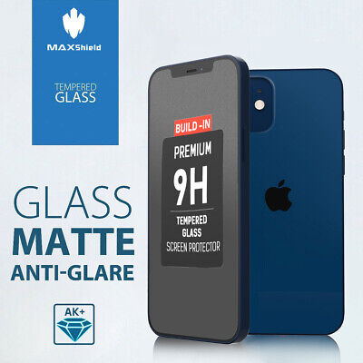 AU8.99 • Buy MAXSHIELD MATTE TEMPERED GLASS SCREEN PROTECTOR FR IPHONE X Xs Max XR 8 7 6 PLUS