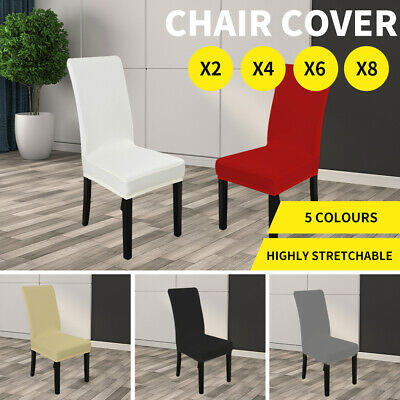 AU7.99 • Buy Dining Chair Covers Stretch Living Room Seat Cover Elastic Washable Slipcover