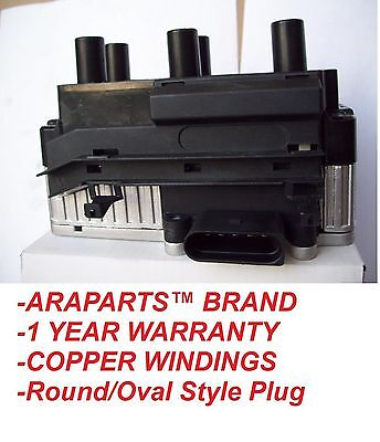$76.99 • Buy 99-02 VW JETTA GOLF GTI V6 VR6 2.8L Ignition Coil Pack NEW Round/Oval Plug
