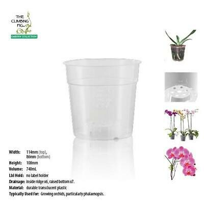 AU18.90 • Buy 120mm Teku Round CLEAR Plastic Pots. Suits Phalaenopsis & Other Orchid Plants