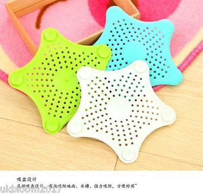 £1.99 • Buy Silicone Hair Catcher Stopper Bath Shower Drain Filter Hair Trap Stop Pick Color