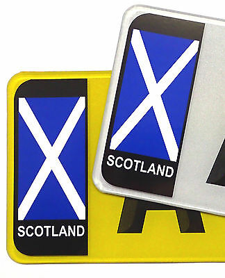 PAIR Scotland Scottish Saltire Flag Vinyl Stickers For Car Number Plate Brexit • 1.49£