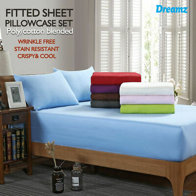 AU26.99 • Buy King Single/Double/Queen/King Ultra SOFT - 2/3 Pcs FITTED Sheet Set Bed New