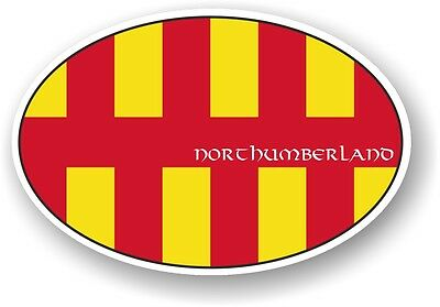 £2.69 • Buy Classic Oval Design With Northumberland Country Flag Vinyl Car Sticker Decal