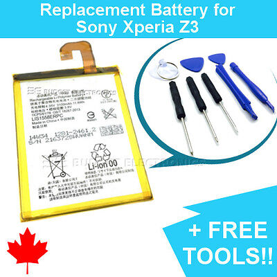 $ CDN14.89 • Buy NEW Sony Xperia Z3 Replacement Battery LIS1558ERPC With FREE Repair Tools