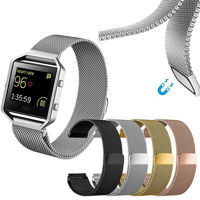 AU21.11 • Buy Magnetic Stainless Steel Milanese Loop Watch Wrist Band Strap For Fitbit Blaze