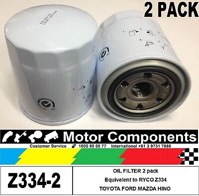 AU36.25 • Buy OIL FILTER 2 PACK Z334 For Mazda WL 2.5L TOYOTA 1HZ 5LE 1KZ-TE 1HD-FTE
