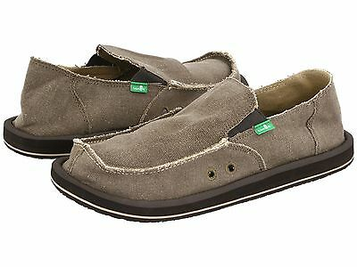 Men's Shoes Sanuk VAGABOND Slip On Canvas Sidewalk Surfers SMF1001 BROWN • 34.97£