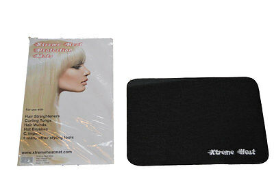 £1.79 • Buy BLACK Heat Proof Straightening Mat For GHD Hair Straighteners And Other Makes