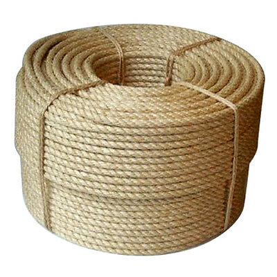 500m Coil Of 6mm Tossa Jute Rope Natural Twisted Jute Fibre Cord Garden Farming • 145.18£