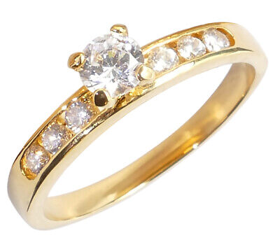 SALE! Stunning Simulated Diamonds Engagement 4.5mm Solitaire Ring • 11.99£
