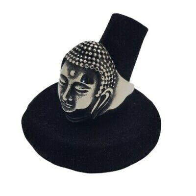 £9.99 • Buy Buddha Ring Tibet Indian Asian Style Mens Womens Silver Stainless Steel Punk