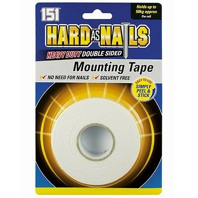 50-KG Hard As Nail Heavy Duty Double Sided  Mounting Tape Solvent Free New • 4.45£
