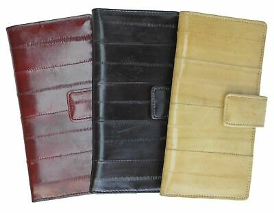 $19.99 • Buy Genuine Eel Skin Soft Credit Card Holder Wallet With Snap Button By Marshal®