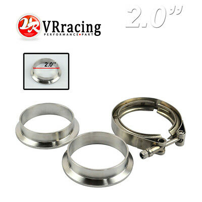 $ CDN23.79 • Buy 2  V-Band Clamp Flange Kit (Stainless Steel 304 Clamp+SUS304 Flange)