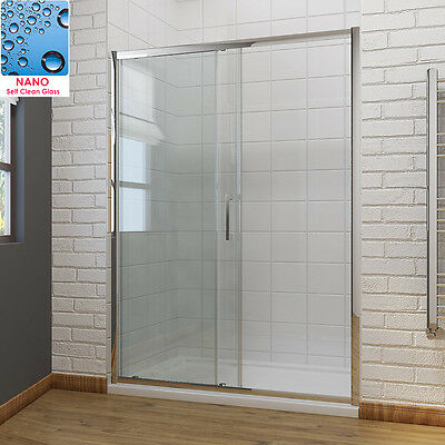 Sliding Shower Door Enclosure Screen Cubicle 6/8mm Glass Free Delivery • 175.99£
