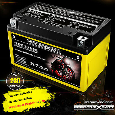 AU74.95 • Buy 12V AGM Motorcycle Battery YTZ10S Honda Motorbike Scooter ATV Upgrades YTX9-BS