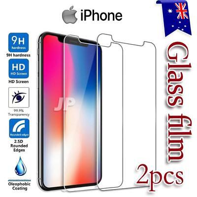 AU3.85 • Buy 2x Apple IPhone X XS Max XR 7 8 Plus Tempered Glass Screen Protectors Film Guard