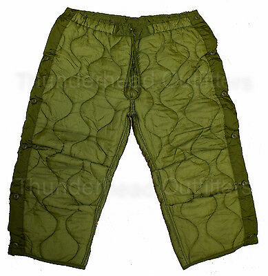 $9.95 • Buy US Military M-65 FIELD PANT LINER Large OD Green Cold Weather Insert Army NEW