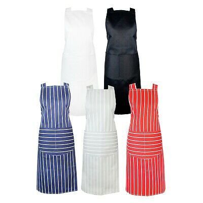 £5.49 • Buy Chefs Apron With Pockets, BBQ, Baking & Catering Apron For Men Women Ladies