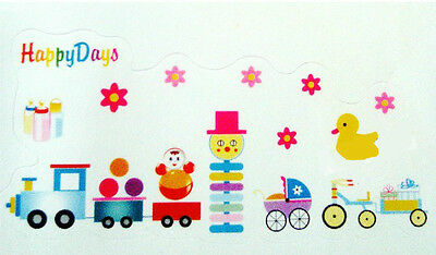 Train Happy Days Nursery Toys Wall Sticker Decal Children/kids Room • 4.49£