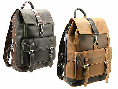£149.95 • Buy Visconti Mens X Large Two Tone Leather Backpack Travel Rucksack - Rhino 16161XL