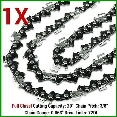 AU24.09 • Buy 1x Chainsaw Chain Full Chisel 3/8 063 72dl For 066 Ms660 034 038 Stihl 20  Bar
