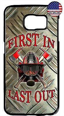 $ CDN17.80 • Buy Hard Rubber Case Cover For Samsung Galaxy S8 S9 Plus S7 Note 9 8 5 Firefighter