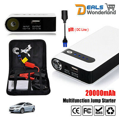 AU62.99 • Buy 20000mAh Portable Car Jump Starter Vehicle Charger Power Bank Battery Engine