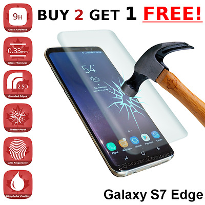 $ CDN6.89 • Buy *CURVED* Samsung Galaxy S7 EDGE High Quality Tempered Glass Screen Protector
