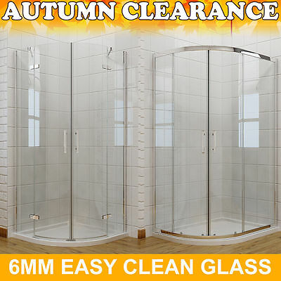 £201.99 • Buy Quadrant Shower Enclosure Tall Walk In Cubicle Glass Door + Tray And Free Waste