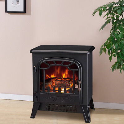 1850W Electric Fireplace Heater Fire Place Modern Log Burning Effect Stove Black • 69.99£