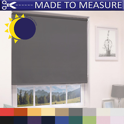 Made To Measure Blackout Roller Blinds - 100% Thermal - Custom Made To Size • 30.99£